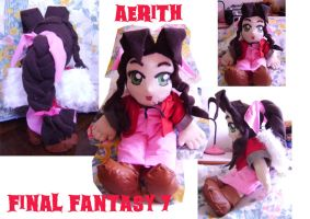Aerith plushie by belafantasy
