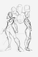 Female Figure Sketches by EryckWebbGraphics