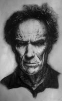 Clint Eastwood Portrait by whitneyw
