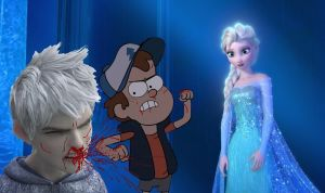 Dipper Vs. Jack Frost - Fight For Elsa by Trackforce