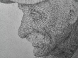 Old Man Drawing by NevilleGordonArt