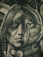 Native American T-Shirt Front by Black-Tallon