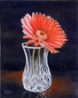 Flower in Crystal Vase by mbeckett