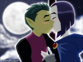 Kiss me tonight by SparkyX by teentitans