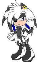 Spazz the Hedgehog by 50shadesofPitchBlack