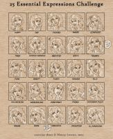 25 Expressions- Rian by temiel
