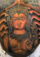 buddha on stomach by asussman