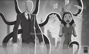 Paper SLENDER MAN by EadgeArt