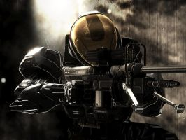 Halo 3 - Onyx Sniper by pizzagrenade