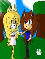 Gift: The beautiful Girl and the cool Tomboy by Doggshort2