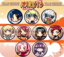 Naruto Button Set by jinyjin