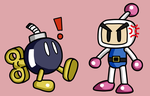 Bob omb and Bomberman by Maleiva