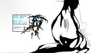 Black Rock Shooter Rainmeter by henkabloza