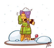 PKMNC - Snow Shoveling by TamarinFrog
