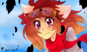 [Colors!3DS] Nadi in the eye of the storm by Nadi-Chan
