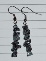 Snowflake Obsidian Earrings by Lost-in-the-day