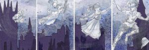 Peter Pan ATCs by rubypaleface