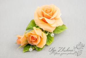 Hair clip with roses by polyflowers