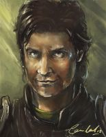 BGEE Guy of Gisborne Portrait by SamhainStar