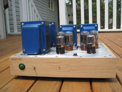 Early Stereo Tube Amplifier Build by MongoTheManiac