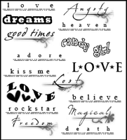 text brushes by pinklilies