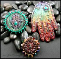 Polymer clay magnets by andromeda