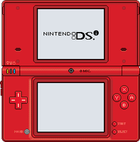 Nintendo DSi [red] by BLUEamnesiac