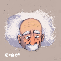 Albert Einstein by 66VI