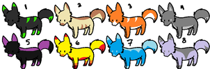 : ADOPTABLES : (CLOSED) 8 FREE WOLF ADOPTZ!! by Zoback