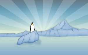 Penguin Widescreen by Sed-rah