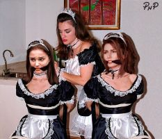 PNP Shania Twain Natalie Portman French Maid Bound by ArtT1000