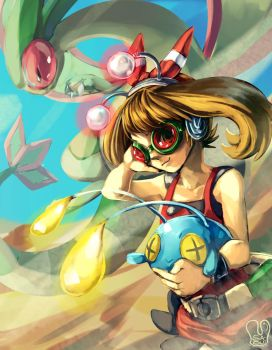 Pokemon ORAS : Dowsing machine and Go-Googles by Sa-Dui
