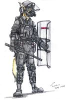 Callentine Riot Police by contrail09