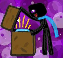 Enderman and The Chest Of The Diamond Block by Irukalover1
