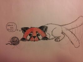 Playful Red Panda (in progress) by Dyingdiver