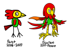 [BS] Scarlett the Macaw (bio) - Past and present by JemiDove