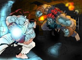 Street Fighter Alpha colored by Damien-Skies