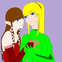 Yuri Samus x Zelda Request by Zero09Ike