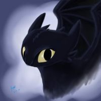 Toothless Portrait by LolWutSxH