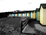 The Huts at Summerleaze Beach by midnight-mysteries