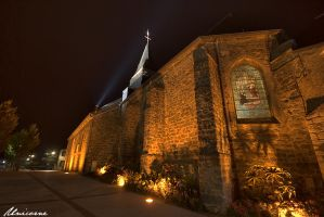 Church in the night 2 by Unicorne