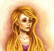 Rapunzel speedpaint by FowlHunter