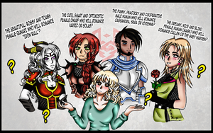 Who to choose_Dragon Age Inquisition by IwarinJones