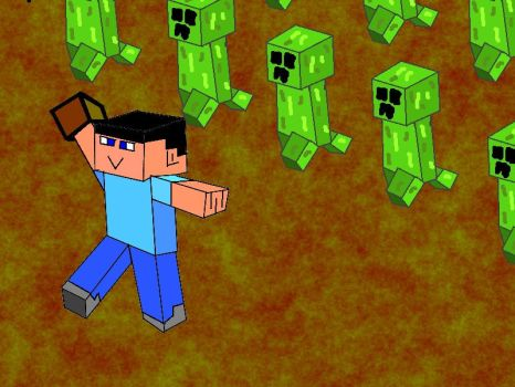 Minecraft Creeper Invasion by karl19981