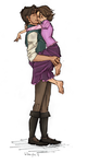 From Burdge's Tumblr: Rapunzel and Eugene by youowemeasoda