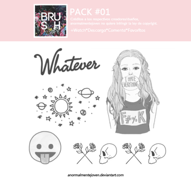 Brushes|Pack #01 by anormalmentejoven
