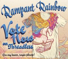 Rampant Rainbow on Threadless by Tamisery