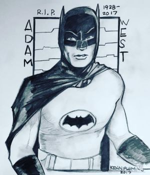 Batman 66 - Adam West 1928 - 2017 RIP by kennf11