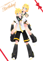 Happy (late) birthday Rin and Len by ShootingStarBlue