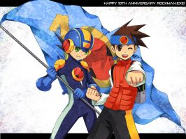 Happy 10th Anniversary Rockman by retrozero